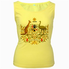 Coat Of Arms Of Australia Women s Yellow Tank Top