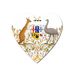Coat Of Arms Of Australia Heart Magnet by abbeyz71