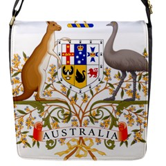 Coat Of Arms Of Australia Flap Messenger Bag (s) by abbeyz71