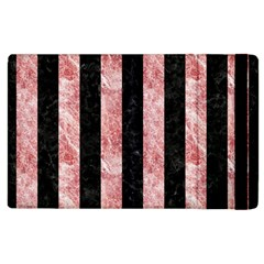 Stripes1 Black Marble & Red & White Marble Apple Ipad 2 Flip Case by trendistuff