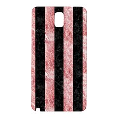 Stripes1 Black Marble & Red & White Marble Samsung Galaxy Note 3 N9005 Hardshell Back Case by trendistuff