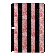 Stripes1 Black Marble & Red & White Marble Samsung Galaxy Tab Pro 10 1 Hardshell Case by trendistuff