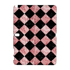 Square2 Black Marble & Red & White Marble Samsung Galaxy Note 10 1 (p600) Hardshell Case by trendistuff