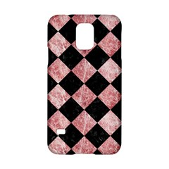 Square2 Black Marble & Red & White Marble Samsung Galaxy S5 Hardshell Case  by trendistuff