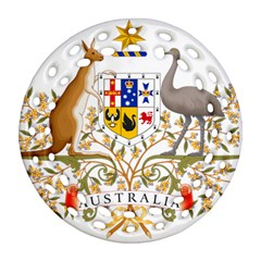 Coat Of Arms Of Australia Ornament (round Filigree)  by abbeyz71