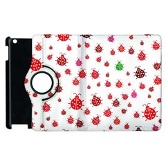 Beetle Animals Red Green Fly Apple Ipad 3/4 Flip 360 Case by Amaryn4rt