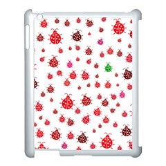 Beetle Animals Red Green Fly Apple Ipad 3/4 Case (white) by Amaryn4rt