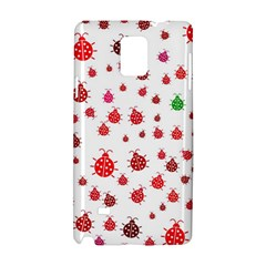 Beetle Animals Red Green Fly Samsung Galaxy Note 4 Hardshell Case by Amaryn4rt