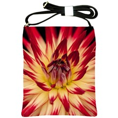 Bloom Blossom Close Up Flora Shoulder Sling Bags by Amaryn4rt