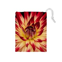 Bloom Blossom Close Up Flora Drawstring Pouches (medium)  by Amaryn4rt