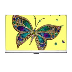 Butterfly Mosaic Yellow Colorful Business Card Holders by Amaryn4rt