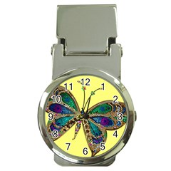 Butterfly Mosaic Yellow Colorful Money Clip Watches by Amaryn4rt