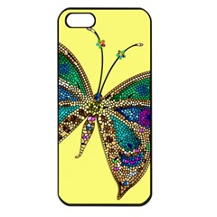 Butterfly Mosaic Yellow Colorful Apple Iphone 5 Seamless Case (black) by Amaryn4rt
