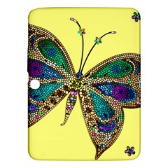 Butterfly Mosaic Yellow Colorful Samsung Galaxy Tab 3 (10 1 ) P5200 Hardshell Case