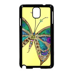 Butterfly Mosaic Yellow Colorful Samsung Galaxy Note 3 Neo Hardshell Case (black) by Amaryn4rt