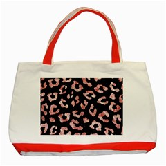 Skin5 Black Marble & Red & White Marble (r) Classic Tote Bag (red)
