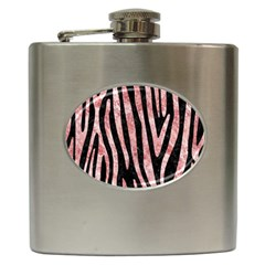 Skin4 Black Marble & Red & White Marble (r) Hip Flask (6 Oz) by trendistuff
