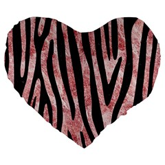 Skin4 Black Marble & Red & White Marble Large 19  Premium Flano Heart Shape Cushion by trendistuff