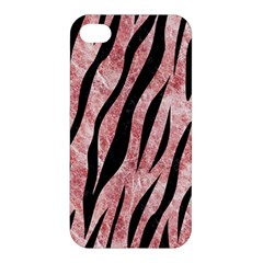 Skin3 Black Marble & Red & White Marble (r) Apple Iphone 4/4s Hardshell Case by trendistuff