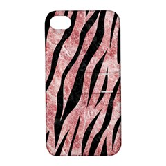 Skin3 Black Marble & Red & White Marble (r) Apple Iphone 4/4s Hardshell Case With Stand by trendistuff