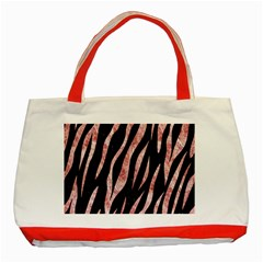 Skin3 Black Marble & Red & White Marble Classic Tote Bag (red) by trendistuff