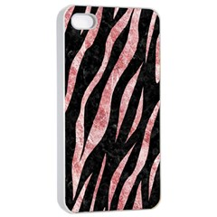 Skin3 Black Marble & Red & White Marble Apple Iphone 4/4s Seamless Case (white) by trendistuff