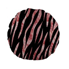Skin3 Black Marble & Red & White Marble Standard 15  Premium Round Cushion  by trendistuff