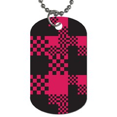 Cube Square Block Shape Creative Dog Tag (two Sides)