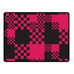 Cube Square Block Shape Creative Fleece Blanket (small) by Amaryn4rt