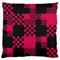 Cube Square Block Shape Creative Large Flano Cushion Case (two Sides) by Amaryn4rt