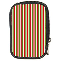 Pattern Background Red White Green Compact Camera Cases by Amaryn4rt