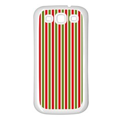 Pattern Background Red White Green Samsung Galaxy S3 Back Case (white) by Amaryn4rt