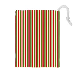 Pattern Background Red White Green Drawstring Pouches (extra Large)