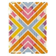 Line Pattern Cross Print Repeat Apple Ipad 3/4 Hardshell Case (compatible With Smart Cover) by Amaryn4rt