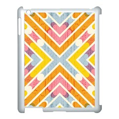 Line Pattern Cross Print Repeat Apple Ipad 3/4 Case (white) by Amaryn4rt