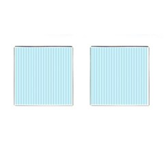 Stripes Striped Turquoise Cufflinks (square)