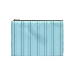 Stripes Striped Turquoise Cosmetic Bag (medium)  by Amaryn4rt