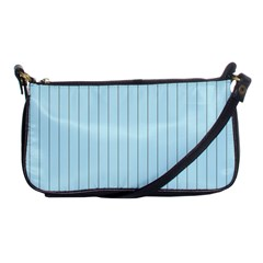 Stripes Striped Turquoise Shoulder Clutch Bags by Amaryn4rt