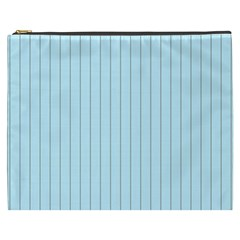 Stripes Striped Turquoise Cosmetic Bag (xxxl)  by Amaryn4rt
