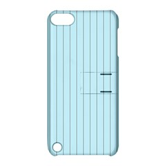 Stripes Striped Turquoise Apple Ipod Touch 5 Hardshell Case With Stand by Amaryn4rt