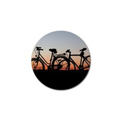 Bicycles Wheel Sunset Love Romance Golf Ball Marker (4 Pack) by Amaryn4rt