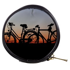 Bicycles Wheel Sunset Love Romance Mini Makeup Bags