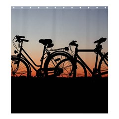 Bicycles Wheel Sunset Love Romance Shower Curtain 66  X 72  (large)