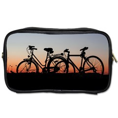 Bicycles Wheel Sunset Love Romance Toiletries Bags