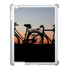 Bicycles Wheel Sunset Love Romance Apple Ipad 3/4 Case (white) by Amaryn4rt