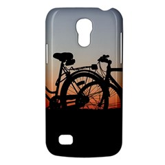 Bicycles Wheel Sunset Love Romance Galaxy S4 Mini by Amaryn4rt