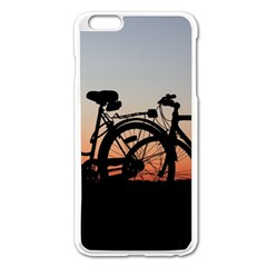 Bicycles Wheel Sunset Love Romance Apple Iphone 6 Plus/6s Plus Enamel White Case by Amaryn4rt