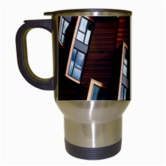 Abstract Architecture Building Business Travel Mugs (white) by Amaryn4rt