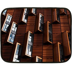 Abstract Architecture Building Business Double Sided Fleece Blanket (mini)