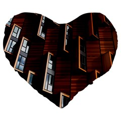 Abstract Architecture Building Business Large 19  Premium Heart Shape Cushions by Amaryn4rt